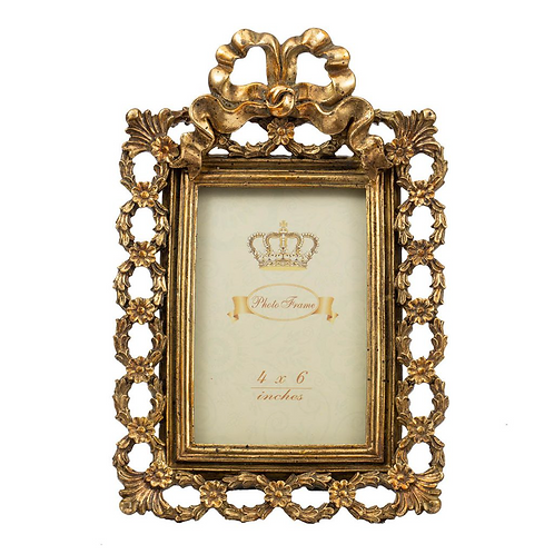 Antique Gold Lace Photo Frame