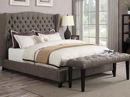 Faye Chocolate King Bed