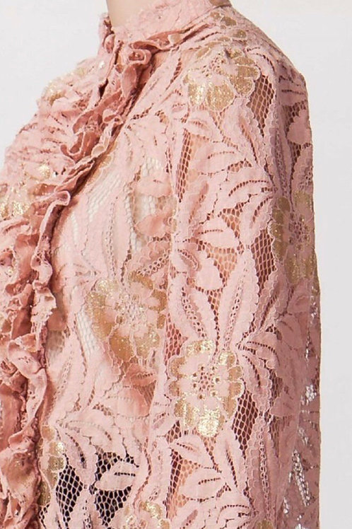 Gold Applique Dressy Top