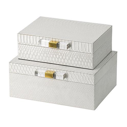 S/2 Snakeskin Decorative Box