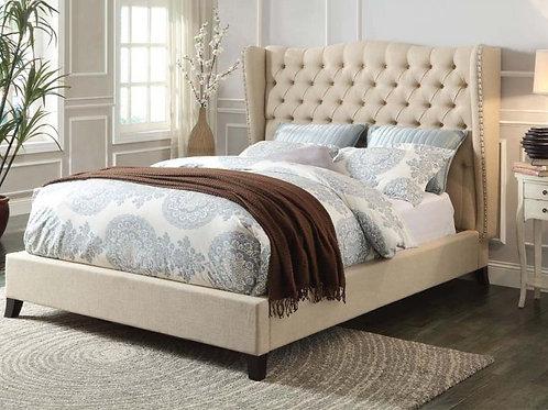 Faye Beige Queen Bed