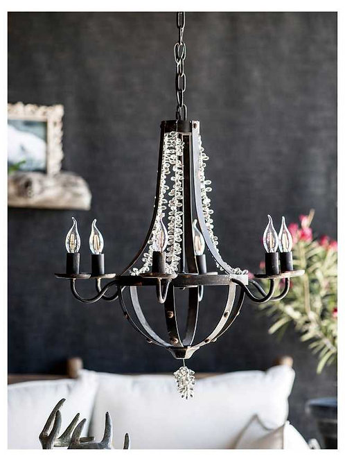 Tamsin Beads 6-Light Chandelier-Black