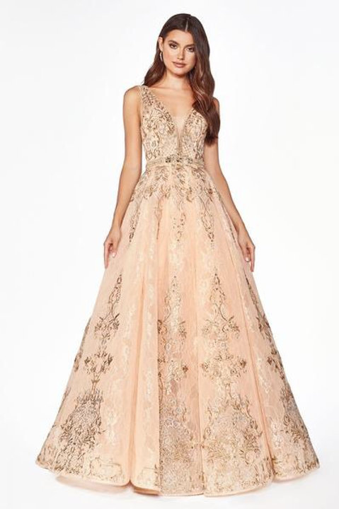 Illusion Neckline Sleeveless Prom Dress