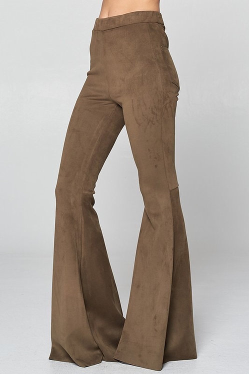 Faux Suede Bell Bottoms