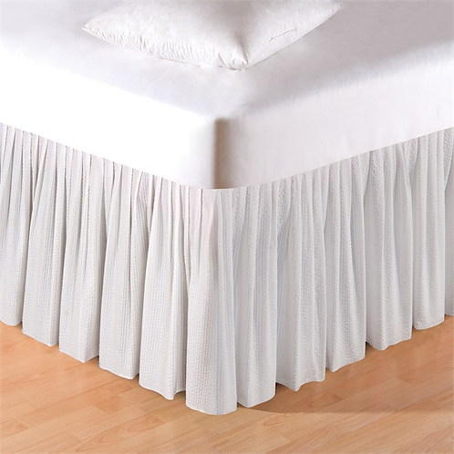 White Seersucker Bed Skirt