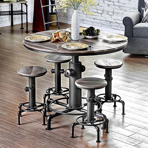 FOSKEY COUNTER HT. TABLE & CHAIRS    |    CM3367PT
