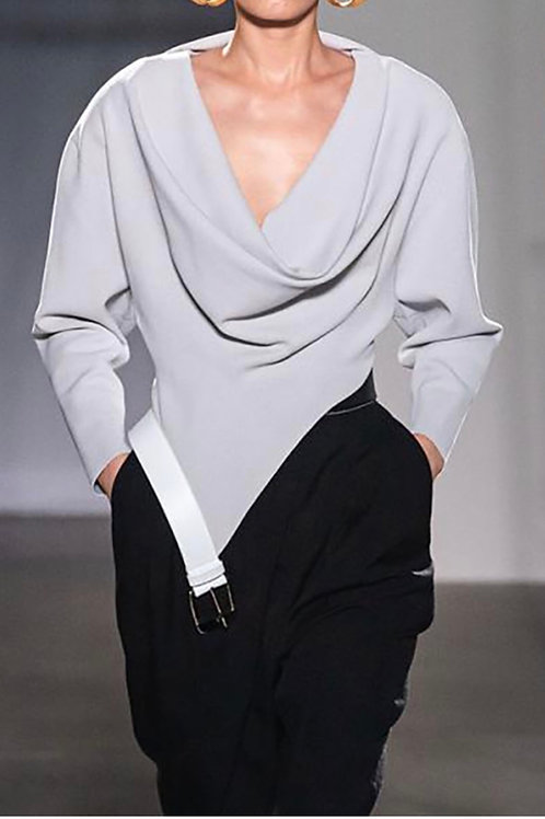Overlapping Front Blouse