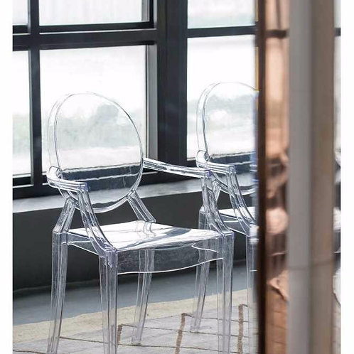 Clear Polycarbonate Arm Chair