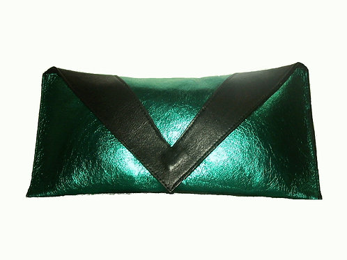 Project Sheen Metallic Leather Clutch