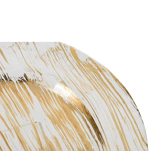 Brushed Gold Charger Plate s/4