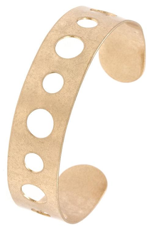 Circle Cut Out Cuff Bracelet