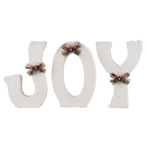 Winter White Joy Letters, St/3