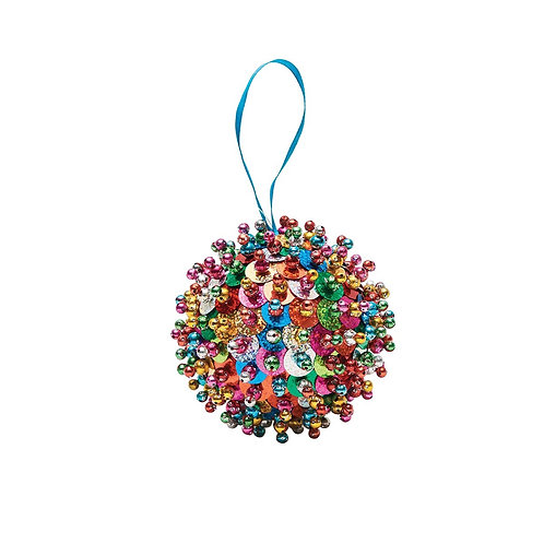 Retro Sequin Ball Ornament