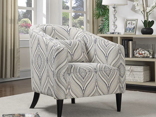 Curved Back Upholstered Accent Chair Multi-Color
