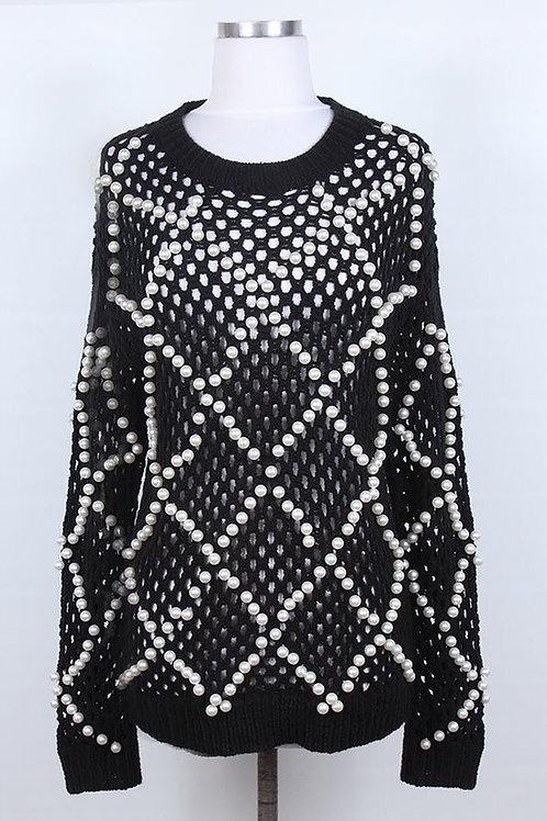 Sweater w/Pearl Detail