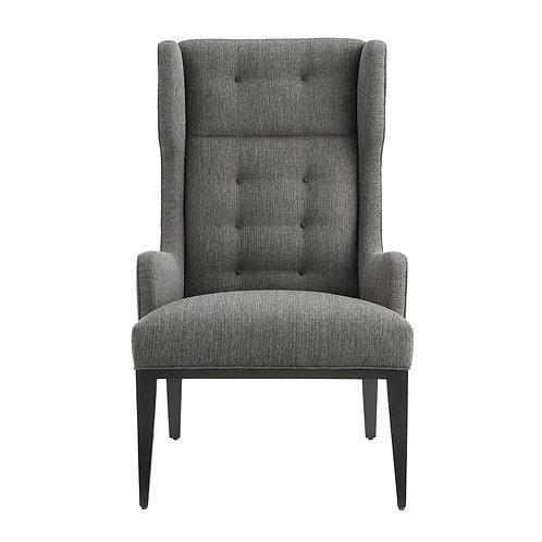 Idol Wing Chair Soot Textured Tweed Grey Ash