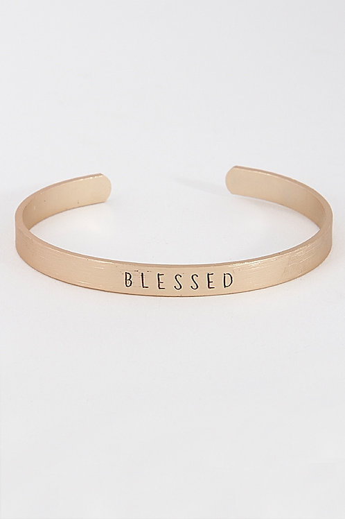 Blessed Open Cut Bracelet