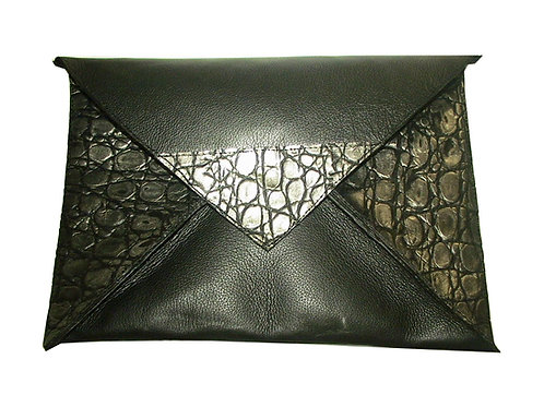 Iguana Croc Envelope Clutch