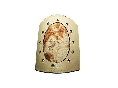 Camouflage Leather Studded Bracelet