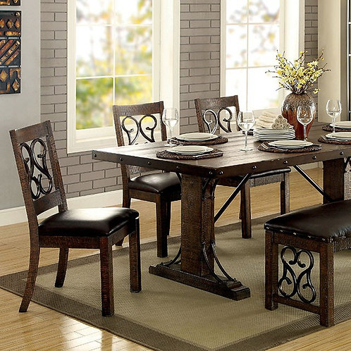 PAULINA DINING TABLE & CHAIR SET (7PC)