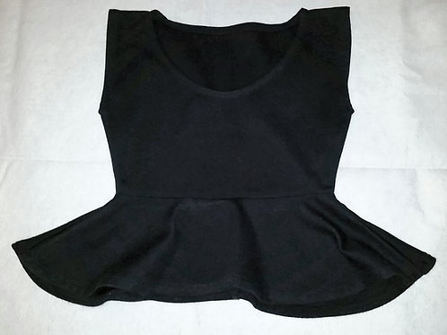 Kaphmada Design Black Peplum Top