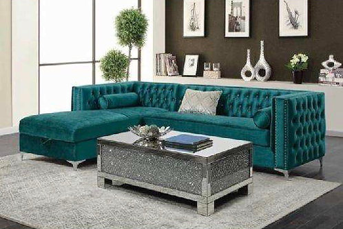 Bellaire Teal/Silver Sectional