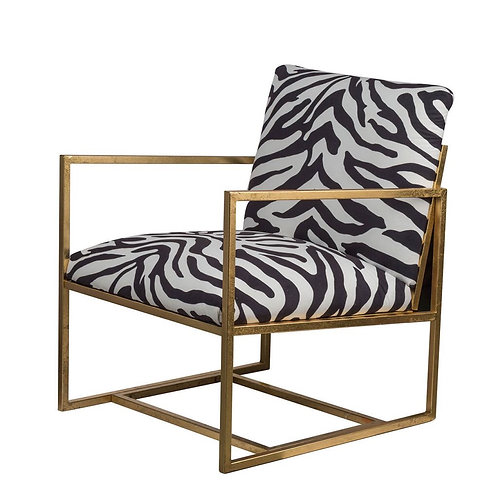 Zebra Print Arm Chair