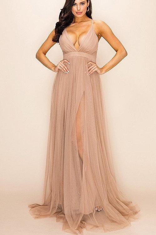 Sheer Mesh Maxi Dress