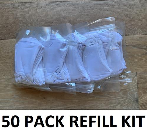 Triple Ply Washable 50 Mask Refill Kit