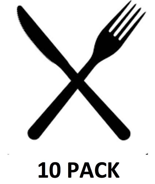 Fork & Knife – Washable – Anti-Microbial - $4.50 / Mask