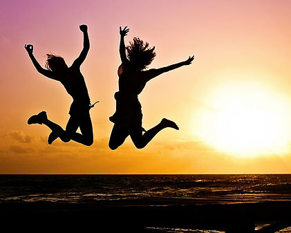Self Confidence Hypnosis in Stirling - Happy People Jumping