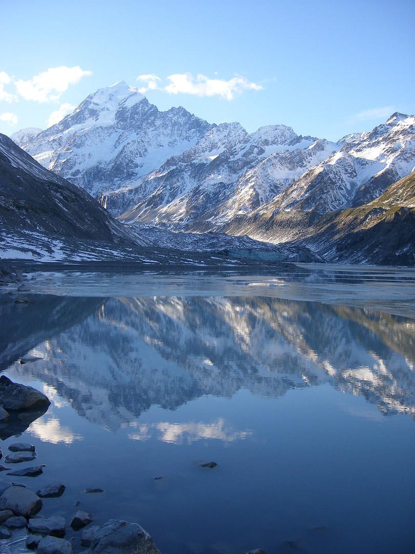 Mount Cook national park- Base of longest accessible glaciers, Tasman