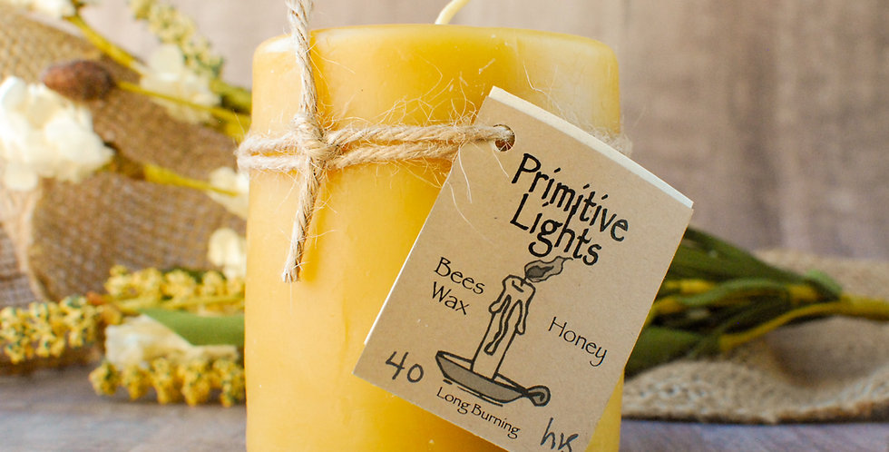 Honey Large Pillar Candle