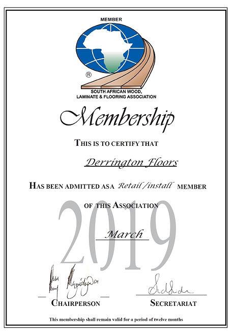 Derrington Floors SAWLFA membership 2019