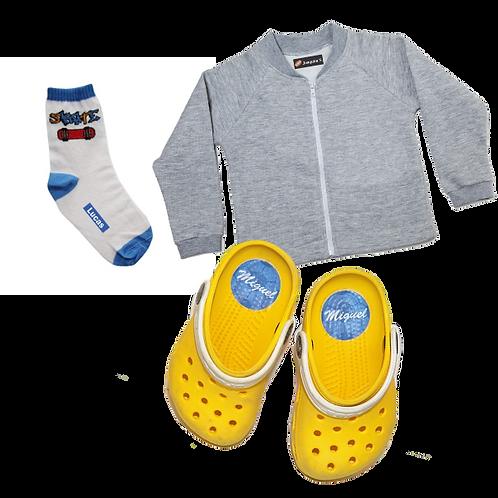 Etiquetando tudo para roupas e sapatos