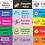 Thumbnail: Etiquetas básicas grandes (6,5x2,5cm) - 60 unidades