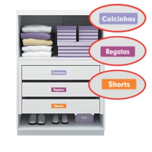Etiquetas para armário (6,5x2,5cm) - 30 unidades