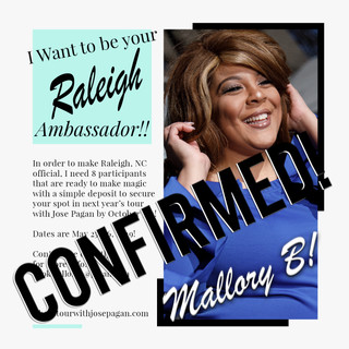 2019 Ambassador sign up flyer Raleigh co