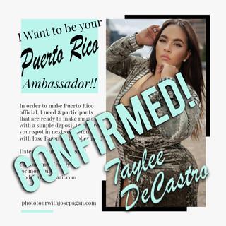 2019 Ambassador sign up flyer PR Taylee