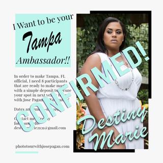 2019 Ambassador sign up flyer Destiny Ma
