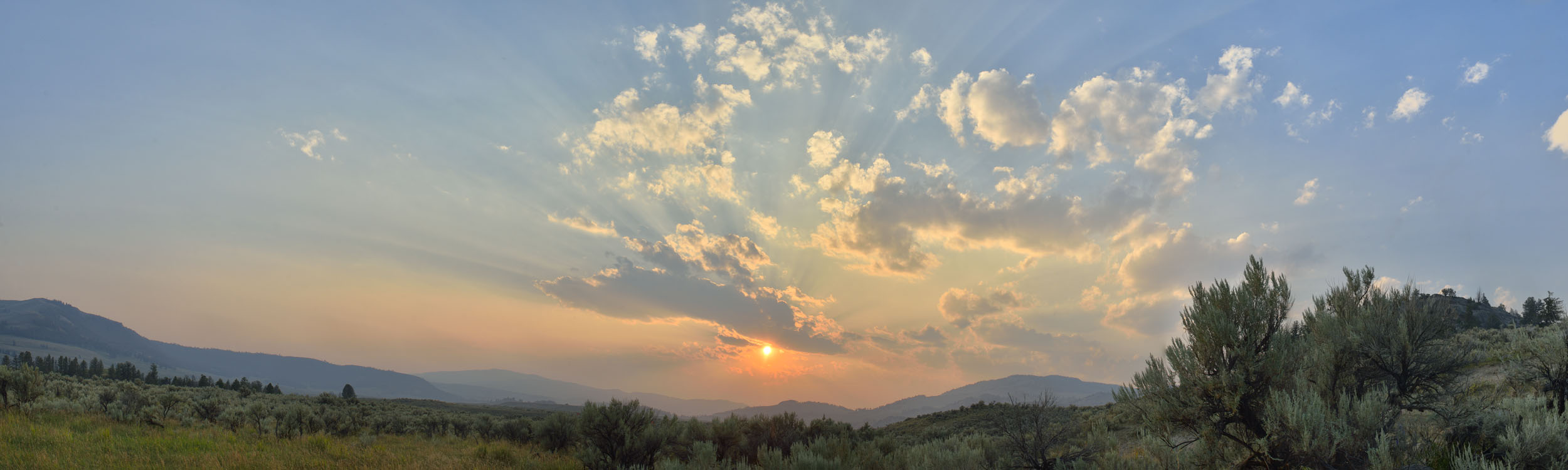 Sunset over the Washburns #1