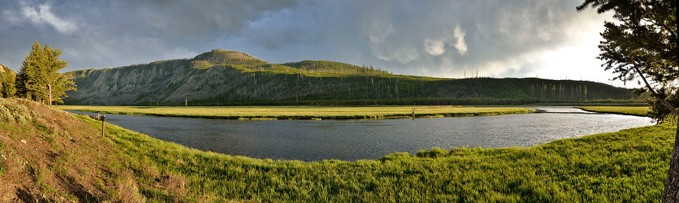 Storm Clouds Receding behind Madison River