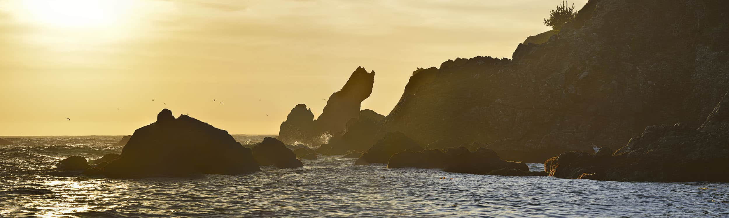 small Golden Hour at Stillwater Cove, CA