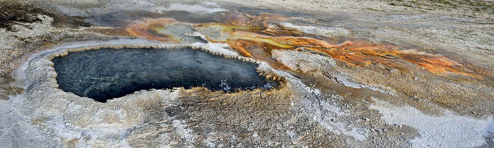 Geyser Detail and Runoff, Yellowstone NP