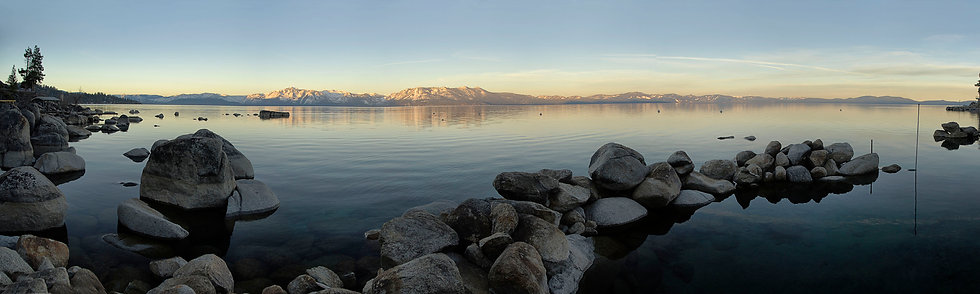 Dawn at Lake tahoe