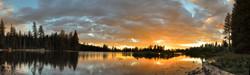 Sunset, Manzanita Lake