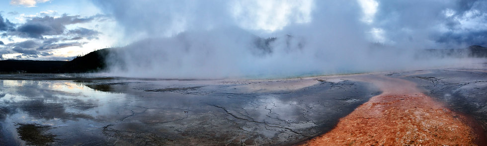 Storm Approaches Prismatic Spring