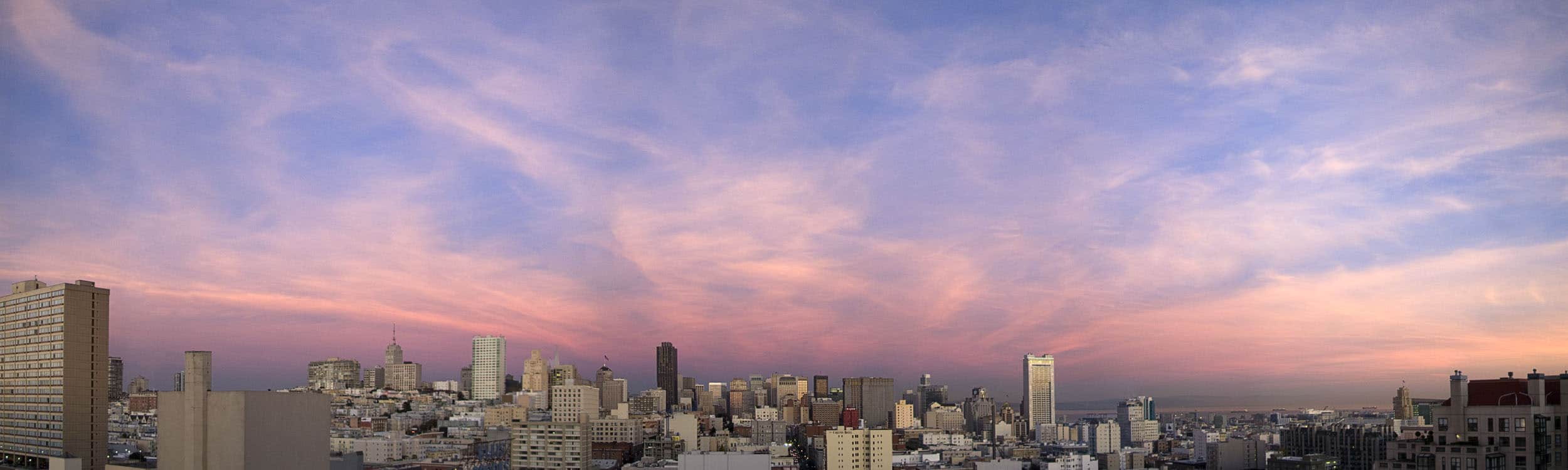 small Afternoon Clouds over San Francisc