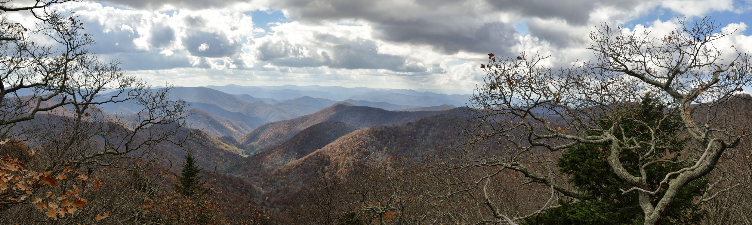 View frrom Blue Ridge Before Storm, NC