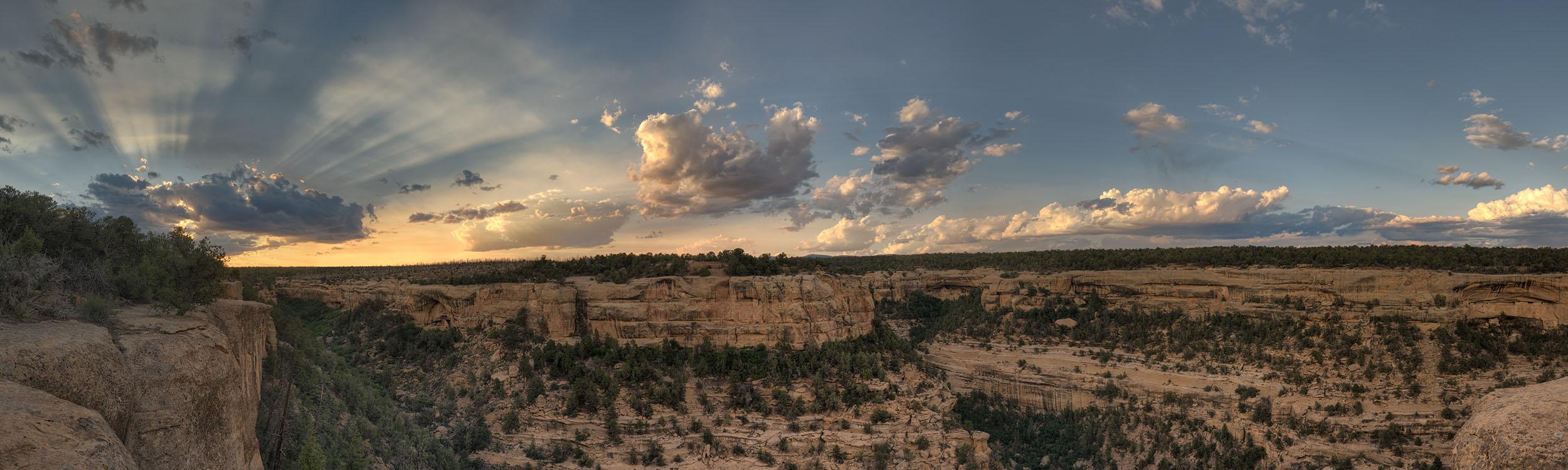 Sun Sets over Soda Canyon, Mesa Verde NP